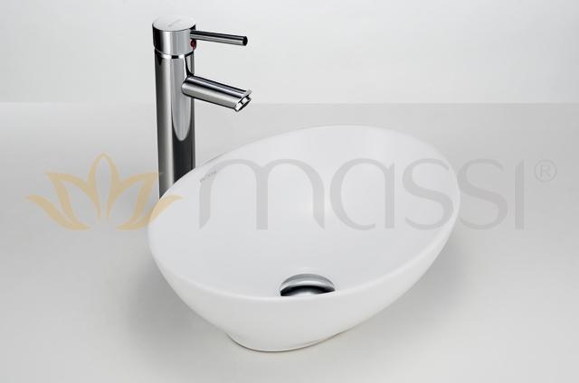 Oval Umywalka Nablatowa 41x33 Cm Broff łazienki